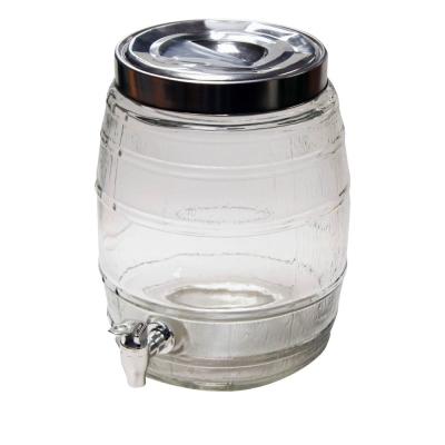 8L Glass Beer Dispenser
