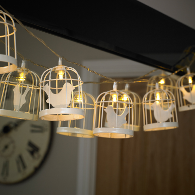 10 Bird Cage Battery Powered String Light