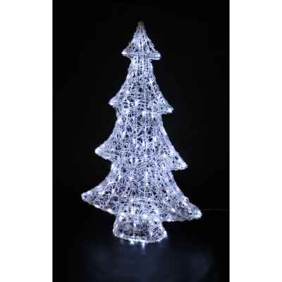 Acrylic Xmas Tree with Bright White LEDs