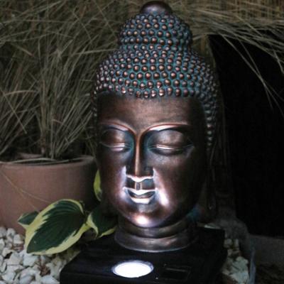 Buddha Head Solar Light
