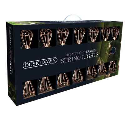 20 Outdoor Copper Battery Powered String lights
