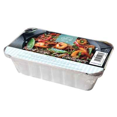 5 Pack of Jumbo Foil Food Containers With Lids