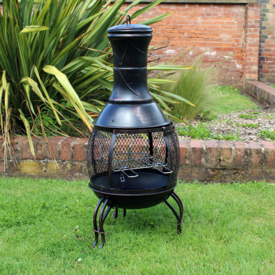 Outdoor Chiminea BBQ Heater