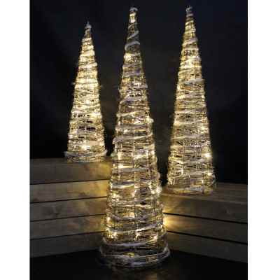 3 Pack Battery Operated Pyramid Tree