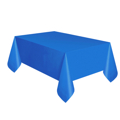 2 Pack of 120 x 120cm Blue Plastic Table Covers