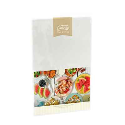 2 Pack of 120 x 120cm White Plastic Table Covers