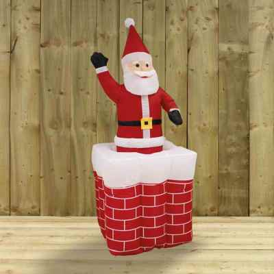 1.6m Pop Up Santa in Chimney