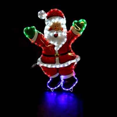 Waving Santa Rope Light with Coloured PVC Backgrou