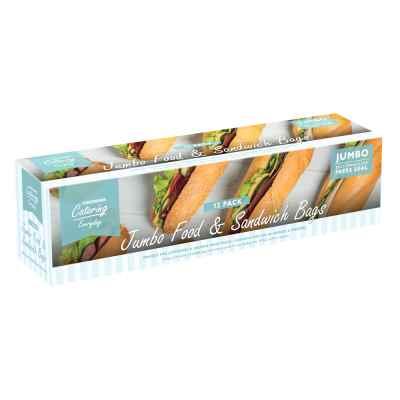 12 Pack Jumbo Press Seal Plastic Food Bags