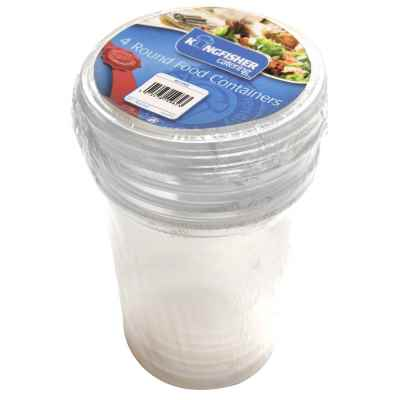 4 Pack of Round Food Containers