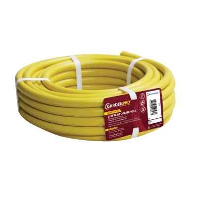 Garden Pro 15m Yellow Reinforced Garden Hose