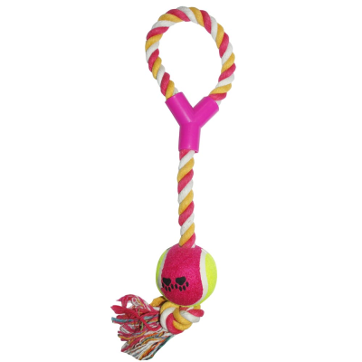 Rope Throw and Ball Dog Toy