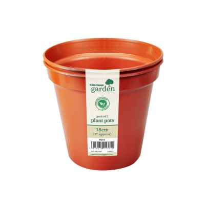2 Pack x 18cm(7in) Plant Pots