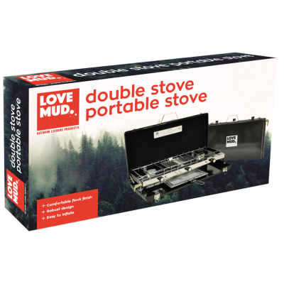 Double Burner Portable Camping Stove and Grill