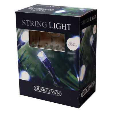 200 White LED Solar String lights