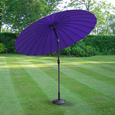 Purple 2.6m Aluminium Parasol with Crank & Tilt