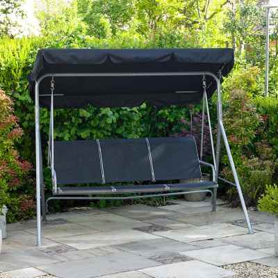 3 Seater Swinging Hammock Bench Seat with Canopy