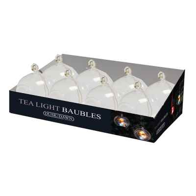Clear Bauble Tea light holder