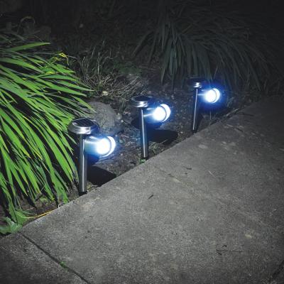 2 Pack Stainless Steel Solar Spot Lights