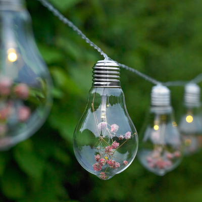 20 Outdoor Glass Bulb String Lights