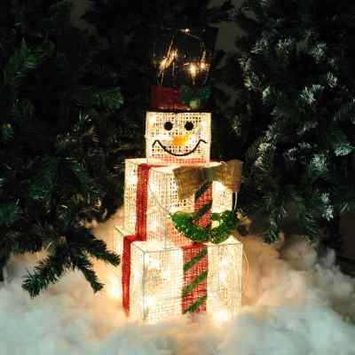 Snow Man Light Box