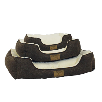 Set of 3 Cream Pet Bed