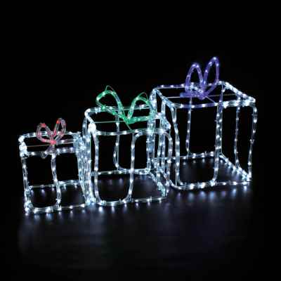 3 Gift Boxes Rope Light