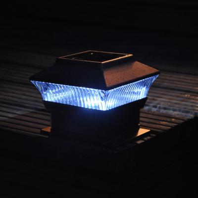 Bronze Effect Solar Fence Light