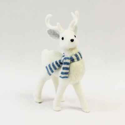 Small Standing Reindeer with Scarf