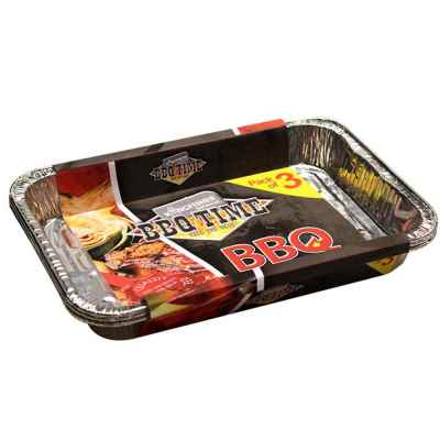 3 Pack of BBQ Trays in a Display Box