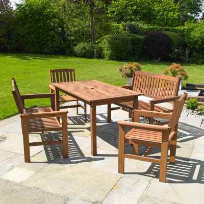 Tropicana 5 Piece Hardwood Garden Furniture Set