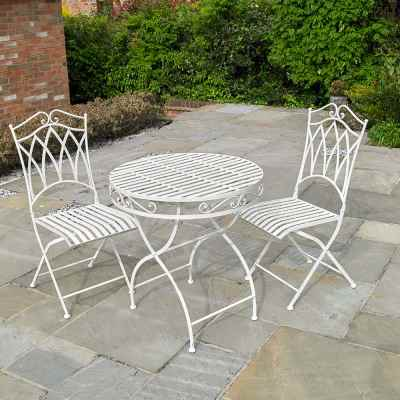 Vintage Cream 3 Piece Bistro set