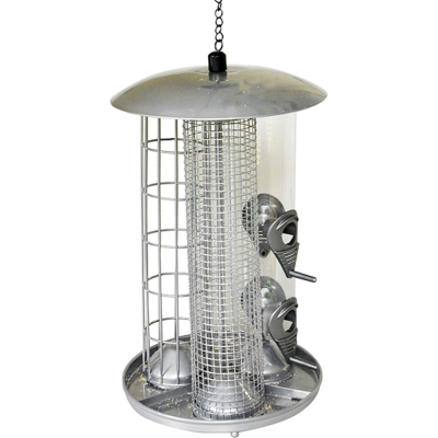 Deluxe 3 in 1 Suet Fat Ball Seed and Nut Feeder