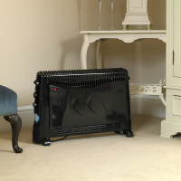 2000W Black Convection Heater With Turbo And Fan