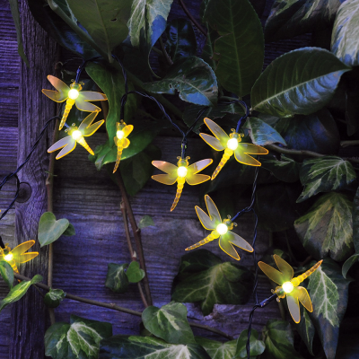 24 String Solar Butterfly or Dragonfly Lights Set