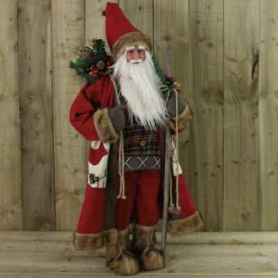 90cm Traditional Red Standing Father Christmas