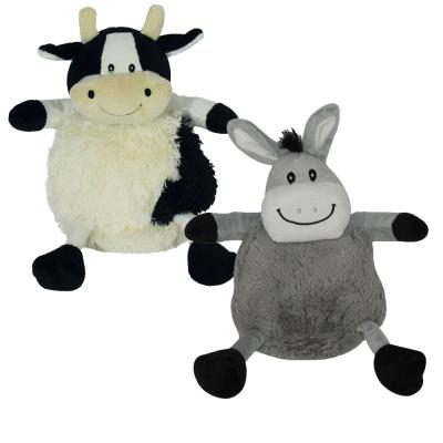 2 Assorted 24cm Furry Soft Pet Toy