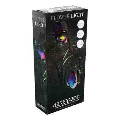 Glass Solar Twin Flower Light
