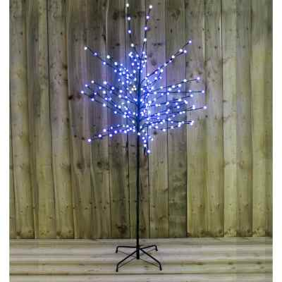 6ft 200 Led Blue White Berry Tree