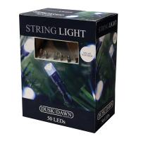 50 White LED Solar String Lights
