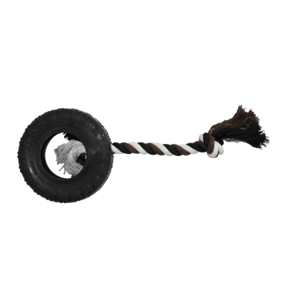Heavy Duty Rubber and Rope Tyre Toy
