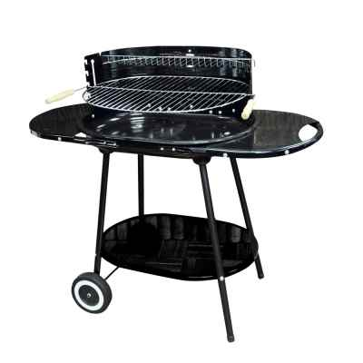 Oval Steel Trolley BBQ