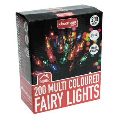 200 Multi Coloured Christmas Fairy Lights