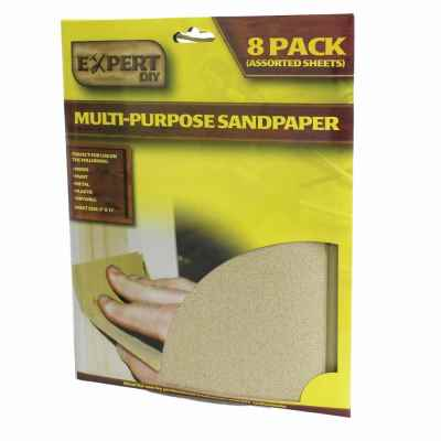 8 Sheets Assorted Sandpaper