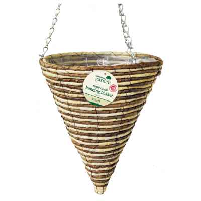 12 inch Rope Cone Hanging Basket