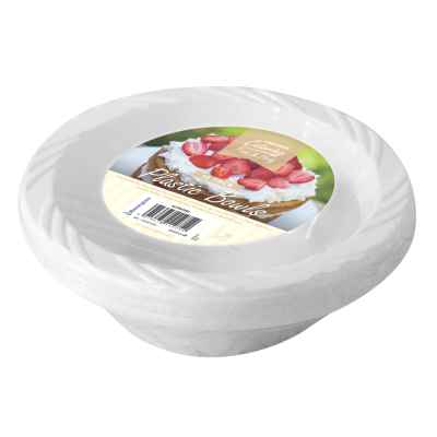 15 Pack of 6 inch White Plastic Disposable Bowls