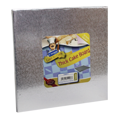 10 Inch (25cm) Square Thick Cake Board