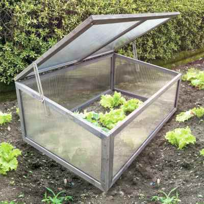 Small Grey Wooden Cold Frame