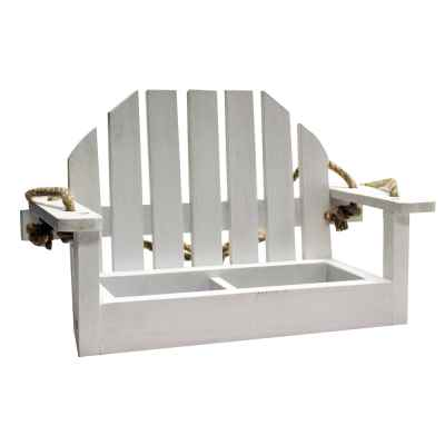 White Bench Shaped Feeder FSC 100% - TT-COC-005449