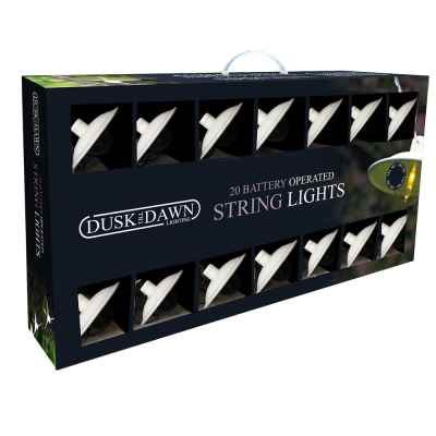 20 Indoor White Battery Powered String lights